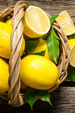 Preview iPhone wallpaper One basket lemons
