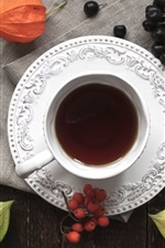 Preview iPhone wallpaper One cup tea, berries