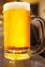 Preview iPhone wallpaper One glass cup of beer