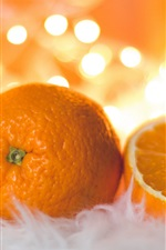 Preview iPhone wallpaper Oranges, glare background