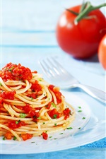 Preview iPhone wallpaper Pasta, tomatoes