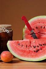 Preview iPhone wallpaper Peaches, watermelon, jam