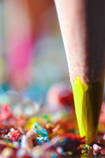 Preview iPhone wallpaper Pencil crumbs, colorful