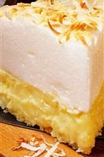 Pie, cream, slice