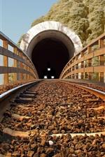Preview iPhone wallpaper Railroad, tunnel, train