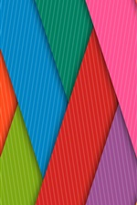 Preview iPhone wallpaper Rainbow color stripes, grille, lines
