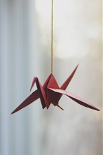 Preview iPhone wallpaper Red origami crane