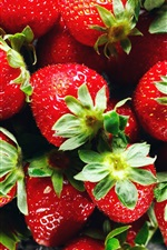 Preview iPhone wallpaper Ripe strawberries, red fruit