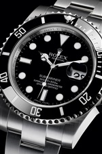 Preview iPhone wallpaper Rolex black watch