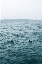 Preview iPhone wallpaper Sea, water, rain