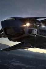 Preview iPhone wallpaper Spaceship flight, lights