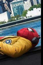 Spider-Man sleep, city