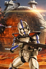 Preview iPhone wallpaper Star Wars, soldiers, battle, art drawing