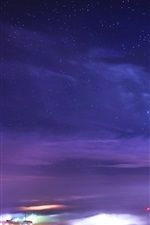 Preview iPhone wallpaper Starry, night, stars, nature