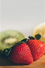 Preview iPhone wallpaper Strawberry and lemon, kiwi