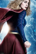 Preview iPhone wallpaper Supergirl, back view