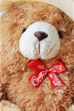 Preview iPhone wallpaper Teddy, bear, toy, hat, basket