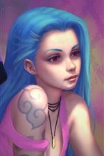 Duas meninas de cabelo azul, League of Legends