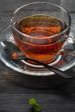 Two cups tea, green and red