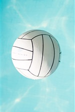 Preview iPhone wallpaper Volleyball, blue water
