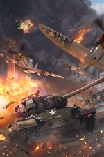 Preview iPhone wallpaper War Thunder, tanks, planes