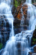 Preview iPhone wallpaper Waterfalls, rocks, Brazil