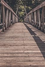 Preview iPhone wallpaper Wooden bridge, path