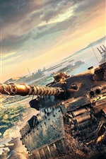 Preview iPhone wallpaper World of Tanks, Xbox games