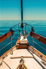 Preview iPhone wallpaper Yacht, blue sea