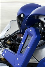 Preview iPhone wallpaper Yamaha R1M, robot driving motorcycle