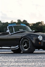 Preview iPhone wallpaper AC Shelby Cobra 427 black car