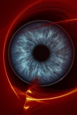 Preview iPhone wallpaper Abstract eye