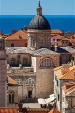 Preview iPhone wallpaper Adriatic Sea, Croatia, city, buildings, roof
