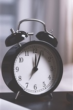 Preview iPhone wallpaper Alarm clock, pens, laptop