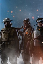 Preview iPhone wallpaper Battlefield 1, soldiers