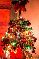 iPhone fondos de pantalla Hermoso árbol de Navidad, luces de colores