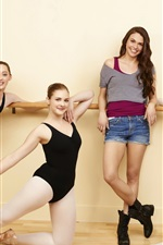 Preview iPhone wallpaper Beautiful girls, ballerina, happy