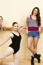 Lindas garotas, bailarina, felizes