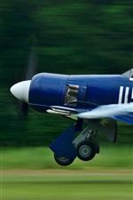 Preview iPhone wallpaper Blue aircraft flight