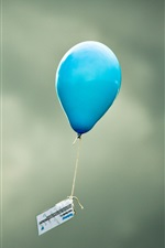 Preview iPhone wallpaper Blue balloon flight