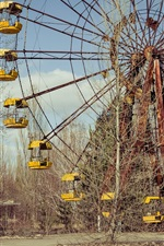Preview iPhone wallpaper Chernobyl, lost places, ferris wheel