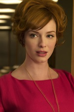 Preview iPhone wallpaper Christina Hendricks 03