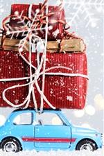 Natal, decoração, brinquedo, presentes, neve