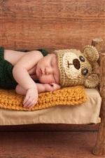 iPhone fondos de pantalla Lindo bebé durmiendo, cama pequeña