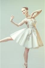 Preview iPhone wallpaper Dancing girl, ballerina