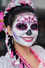 Preview iPhone wallpaper Day of the Dead, girls, paint, makeup