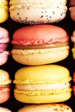 Preview iPhone wallpaper Delicious macaron, sweet food, cakes