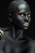 Preview iPhone wallpaper Fashion, art photography, black skin girl