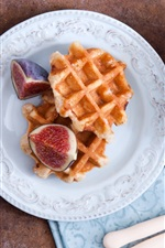 Preview iPhone wallpaper Figs, waffles, knife