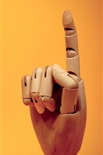 Finger gesture, wooden artworks